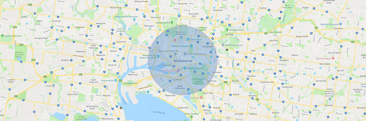 Precision Security Australia Service Area Map